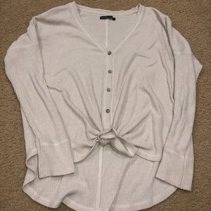 Abercrombie and Fitch tie front button up